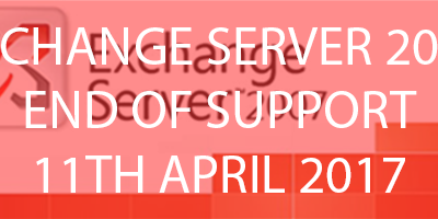 Microsoft Exchange 2007 End of Support 11th April 2017