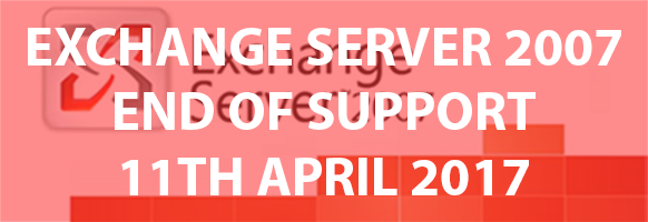 Microsoft Exchange 2007 End of Support