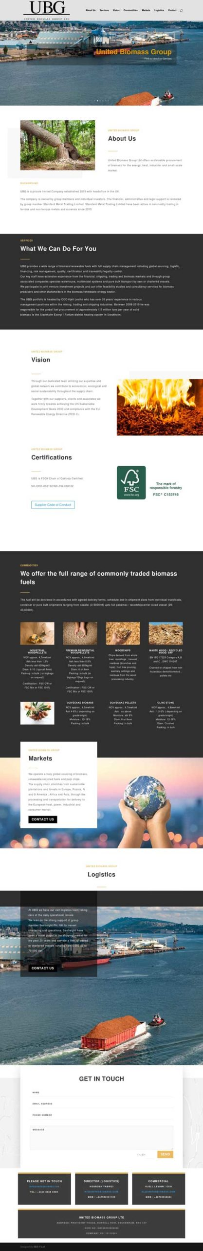 Website Design United Biomass Group