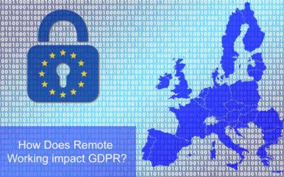 How does remote working impact on GDPR?